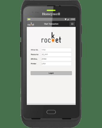 CT40-Rocket Mobile Logon Screen